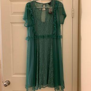 NWT TORRID lace dress in sea foam green